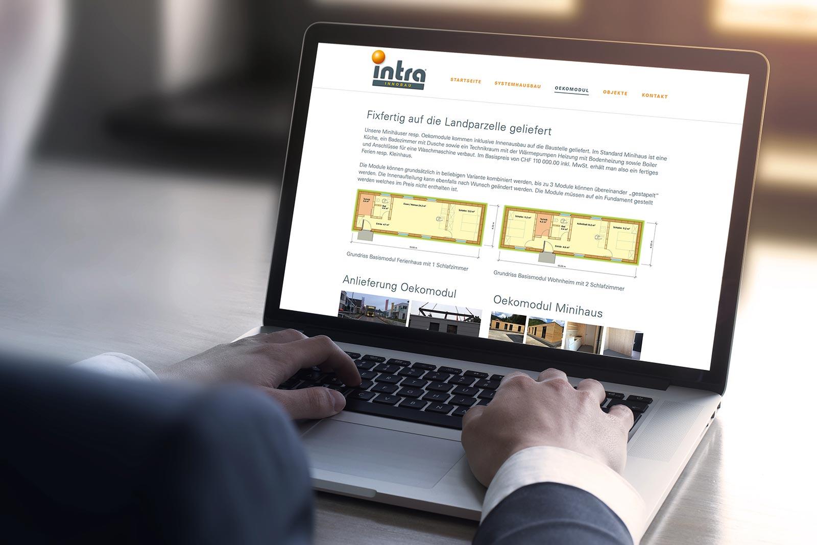 intra immobilien trading ag ist nun online. Black Bedroom Furniture Sets. Home Design Ideas